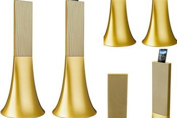 Parrot 'Ancient Gold' Zikmu speakers by Philippe Starck