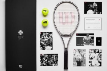 Roger Federer Wilson Collector's Edition Platinum Racket Package 1