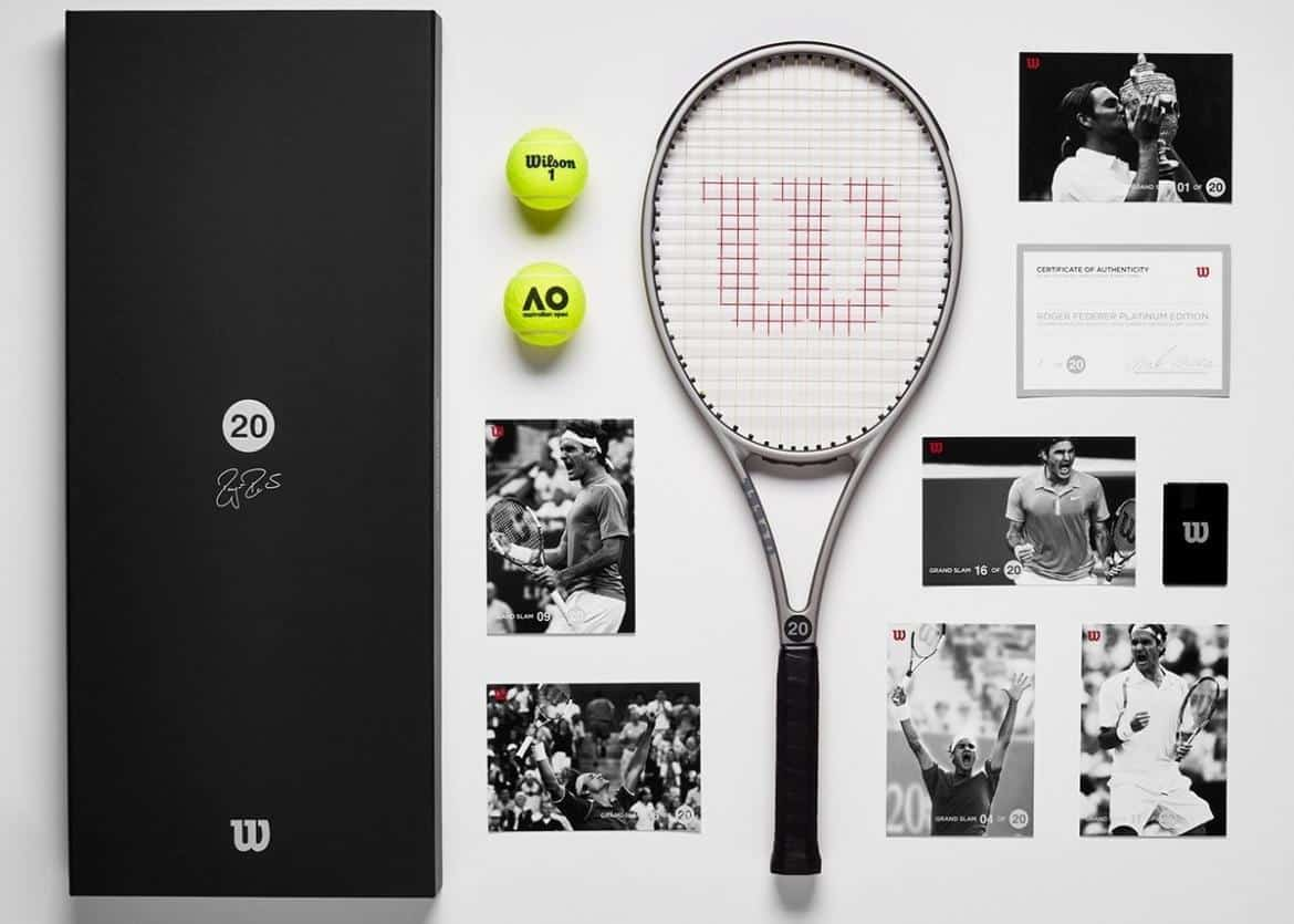 Wilson Collector's Edition Platinum Racket Package