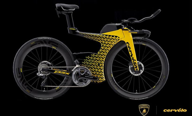 You Might Want The Cervelo P5x Lamborghini Edition Triathlon Bicycle